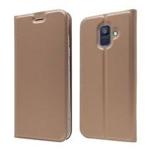 Booktype Hoesje Samsung Galaxy A6 2018 - Roze / Goud