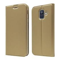 Booktype Hoesje Samsung Galaxy A6 2018 - Goud