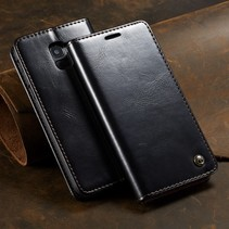 Caseme Booktype Hoesje Samsung Galaxy A6 2018 - Zwart