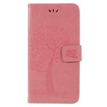 Booktype Hoesje Samsung Galaxy A6 Plus 2018 - Roze