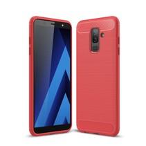 TPU Hoesje Samsung Galaxy A6 Plus 2018 - Rood