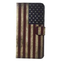 Amerikaanse Vlag Booktype Hoesje Samsung Galaxy A6 Plus 2018