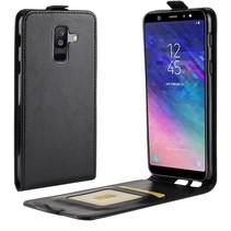 Flipcase Hoesje Samsung Galaxy A6 Plus 2018 - Zwart