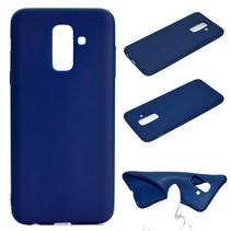 TPU Hoesje Samsung Galaxy A6 Plus 2018 - Donker Blauw