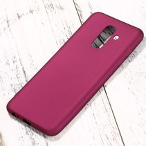 X-level Hardcase Hoesje Samsung Galaxy A6 Plus 2018 - Wijn Rood