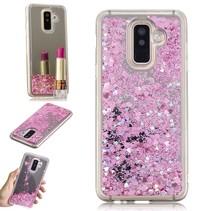 Glitters TPU Hoesje Samsung Galaxy A6 Plus 2018 - Roze