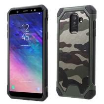 Camouflage Hybrid Hoesje Samsung Galaxy A6 Plus 2018 - Groen