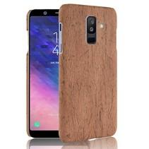 Hardcase Hoesje Samsung Galaxy A6 Plus 2018 - Bruin