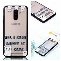 Katten Hybrid Hoesje Samsung Galaxy A6 Plus 2018