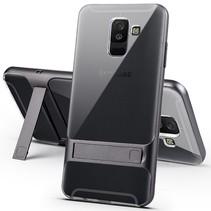 Elegance Hybrid Hoesje Samsung Galaxy A6 Plus 2018 - Grijs