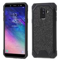 Glitters Hybrid Hoesje Samsung Galaxy A6 Plus 2018 - Zwart