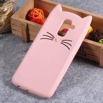 Kat siliconen Hoesje Samsung Galaxy A6 Plus 2018 - Roze