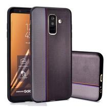 Jeans TPU Hoesje Samsung Galaxy A6 Plus 2018 - Grijs / Zwart
