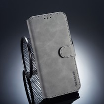 Dg.Ming Booktype Hoesje Samsung Galaxy A6 Plus 2018 - Grijs