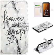 Forever And Allways Booktype Hoesje Samsung Galaxy A6 Plus 2018