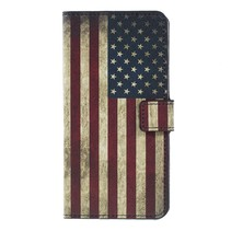 Amerikaanse Vlag Booktype Hoesje Samsung Galaxy A7 2018