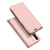 Dux Ducis Booktype Hoesje Samsung Galaxy A7 2018 - Roze / Goud