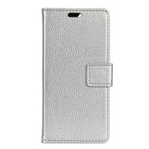Litchee Booktype Hoesje Samsung Galaxy A7 2018 - Wit
