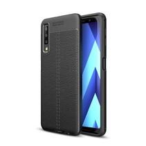 Litchee TPU Hoesje Samsung Galaxy A7 2018 - Zwart