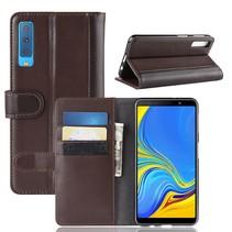 Booktype Hoesje Samsung Galaxy A7 2018 - Bruin