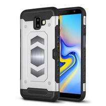 Hybrid Hoesje Samsung Galaxy J6 Plus - Zilver