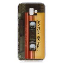 Cassettebandje TPU Hoesje Samsung Galaxy J6 Plus