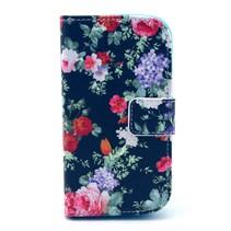 Bloemen Booktype Hoesje Samsung Galaxy Trend 2