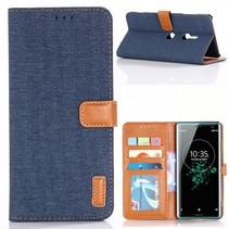 Booktype Hoesje Sony Xperia XZ3 - Donker Blauw