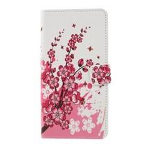 Roze Bloesem Booktype Hoesje Sony Xperia XZ3