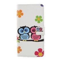 Verliefde uilen en bloemen Booktype Hoesje Sony Xperia XZ3