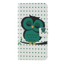 Groene Uil Booktype Hoesje Sony Xperia XZ3