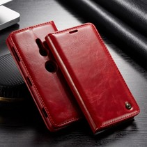Caseme Booktype Hoesje Sony Xperia XZ3 - Rood