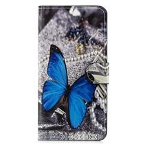 Blauwe Vlinder Booktype Hoesje Xiaomi Mi 8 Lite