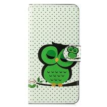 Groene Uil Booktype Hoesje Xiaomi Mi 8 Lite