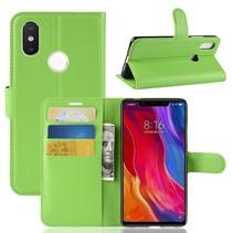 Litchee Booktype Hoesje Xiaomi Mi 8 SE - Groen