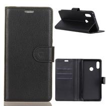 Litchee Booktype Hoesje Xiaomi Mi A2 - Zwart