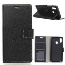 Litchee Booktype Hoesje Xiaomi Mi A2 Lite - Zwart
