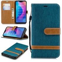 Jeans Booktype Hoesje Xiaomi Mi A2 Lite - Groen