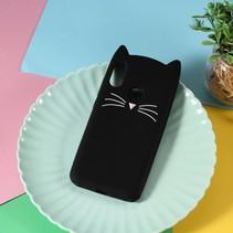 Kat siliconen Hoesje Xiaomi Mi A2 Lite - Zwart