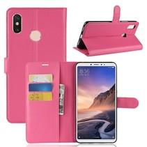 Litchee Booktype Hoesje Xiaomi Mi Max 3 - Roze