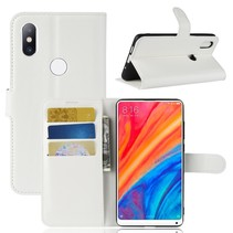 Litchee Booktype Hoesje Xiaomi Mi Mix 2s - Wit