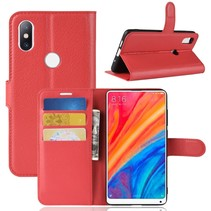 Litchee Booktype Hoesje Xiaomi Mi Mix 2s - Rood