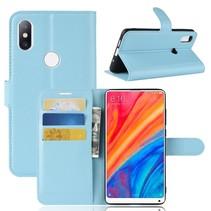 Litchee Booktype Hoesje Xiaomi Mi Mix 2s - Blauw