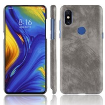 Litchee Hardcase Hoesje Xiaomi Mi Mix 3 - Grijs
