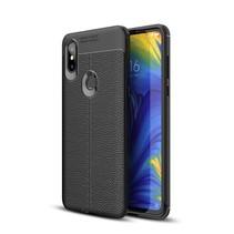 Litchee TPU Hoesje Xiaomi Mi Mix 3 - Zwart