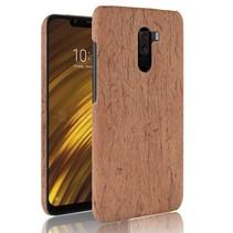 Hardcase Hoesje Xiaomi Pocophone F1 - Bruin