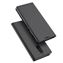 Dux Ducis Booktype Hoesje Xiaomi Pocophone F1 - Donker Grijs