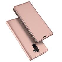 Dux Ducis Booktype Hoesje Xiaomi Pocophone F1 - Roze / Goud