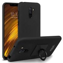 Imak Hardcase Hoesje Xiaomi Pocophone F1 - Zwart