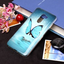 Blauwe Vlinder TPU Hoesje Xiaomi Pocophone F1